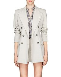Isabel Marant - Kleigh Cotton-linen Double-breasted Blazer - Lyst
