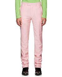 CALVIN KLEIN 205W39NYC Striped Mohair-wool Pants - Pink