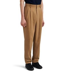 The Row Eric Silk Carrot-leg Pants - Brown