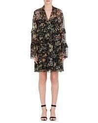 Robert Rodriguez - Vintage Garden Silk Chiffon Peasant Dress - Lyst