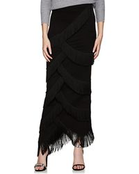 Y. Project - Fringed Ponte Maxi Skirt - Lyst