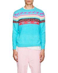 The Elder Statesman - Fair Isle Cashmere Sweater Size M - Lyst