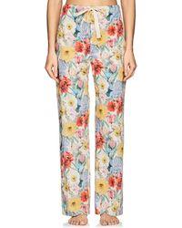 Araks - Ally Floral Cotton Poplin Pajama Pants - Lyst