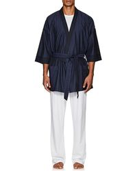 Barneys New York - Striped Cotton Belted Robe - Lyst