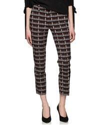 Prada - Lipstick-print Wool-blend Tapered Trousers - Lyst