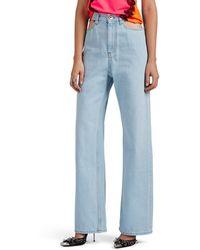 Maison Margiela - Cutout Wide-leg Jeans - Lyst