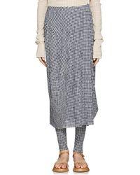 Jil Sander - Gingham Bubble Skirt - Lyst
