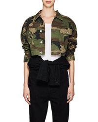 RE/DONE - Camouflage Crop Jacket Size L - Lyst