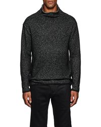 John Varvatos - Cotton-blend Mock Turtleneck Sweater - Lyst