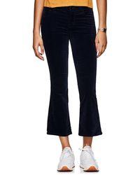 J Brand - Selena Velvet High-rise Crop Flared Pants - Lyst