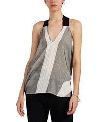Zero + Maria Cornejo Ibit Striped Cotton-blend Top - Black