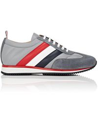 Thom Browne - Suede & Leather Sneakers - Lyst