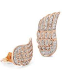 Samira 13 Angel Wing Stud Earrings - Metallic