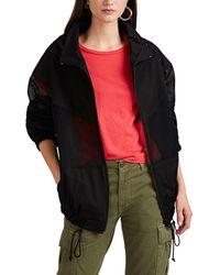 Yohji Yamamoto - Mesh-inset Cotton Jacket - Lyst