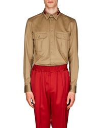 Givenchy - Flaming-arrow-embroidered Cotton Shirt - Lyst