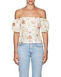 Brock Collection - Boie Floral Silk Off-the-shoulder Blouse - Lyst