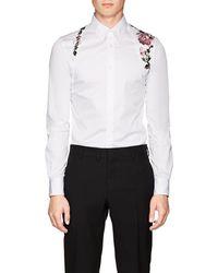Alexander McQueen - Rose-embroidered Cotton Harness Shirt - Lyst