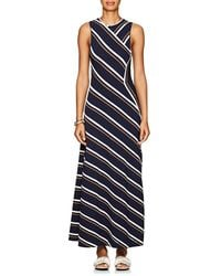 Cedric Charlier - Striped Sleeveless Maxi Dress - Lyst
