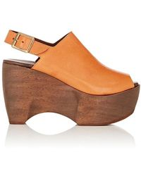 Simon Miller - Leather Slingback Platform Clogs - Lyst