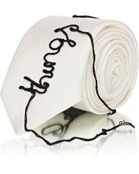 Maison Margiela - Embroidered Silk Necktie - Lyst
