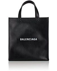 Balenciaga - Logo Market Shopper Small Leather Tote Bag - Lyst