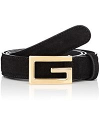 Gucci - Suede Belt - Lyst