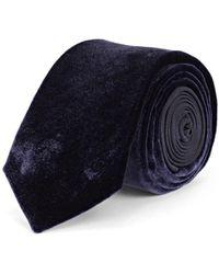 Lanvin - Velvet & Silk Necktie - Lyst