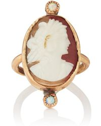 Julie Wolfe - Opal & Cameo Ring - Lyst