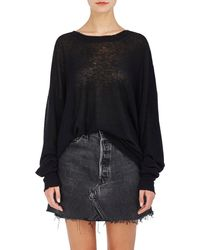T By Alexander Wang - Distressed Jumper - Lyst