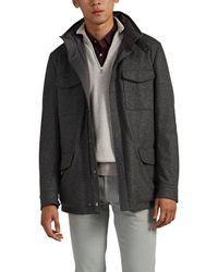 Loro Piana Traveller Reversible Cashmere & Tech-twill Field Jacket - Gray