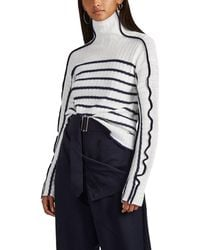 40cba20174c6 Sies Marjan Harrie Canvas-trimmed Striped Ribbed Linen Turtleneck ...