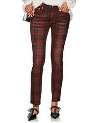 R13 - Kate Plaid Skinny Jeans - Lyst