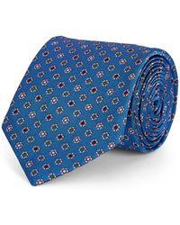 Bigi - Floral-motif Silk Faille Necktie - Lyst