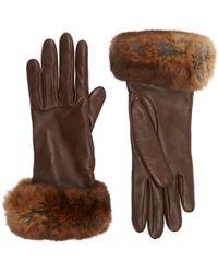 Barneys New York - Fur-cuff Gloves - Lyst