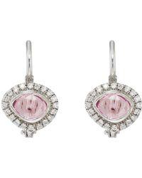 Zoe - Sapphire & Diamond Drop Earrings - Lyst