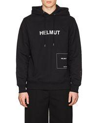 Helmut Lang - Logo Cotton-blend Terry Hoodie - Lyst