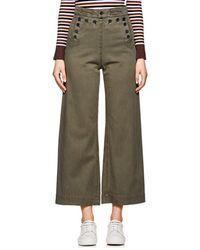 A.L.C. - Pierce Stretch-cotton Twill Sailor Trousers - Lyst
