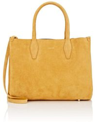Lanvin - Small Suede Shopper Tote Bag - Lyst