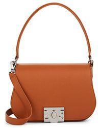 CALVIN KLEIN 205W39NYC Bonnie Small Leather Shoulder Bag - Brown