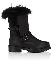 Sartore - Fur-lined Leather Moto Boots - Lyst