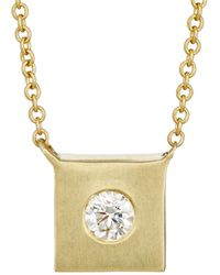 Tate - Square Charm Necklace - Lyst