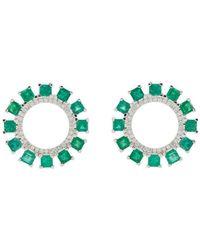 Ileana Makri - Glimmer Sun Stud Earrings - Lyst