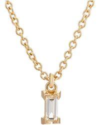 Ileana Makri - Baguette White Diamond Pendant Necklace - Lyst