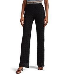 Missoni Metallic Crochet Wide-leg Pants - Black