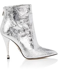 Paul Andrew - Citra Craquelé Leather Ankle Boots - Lyst