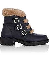 Barneys New York - Leather & Shearling Ankle Boots - Lyst