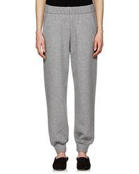 The Row - Linzia Cotton Fleece Sweatpants - Lyst
