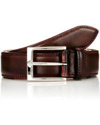 Harris Burnished Leather Belt - Brown