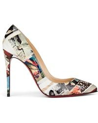 Christian Louboutin - Pigalle Follies 100 Printed Patent Leather Pumps - Lyst