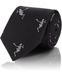 Alexander McQueen - Embroidered Silk Tie - Lyst